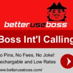 boss pinless international calling