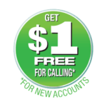 get $1 free with new account
