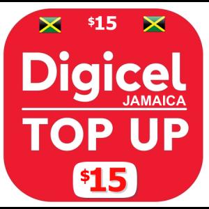 $15 Digicel Jamaica top up