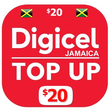 $20 Digicel Jamaica top up