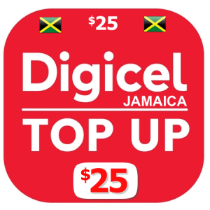 $25 Digicel Jamaica top up