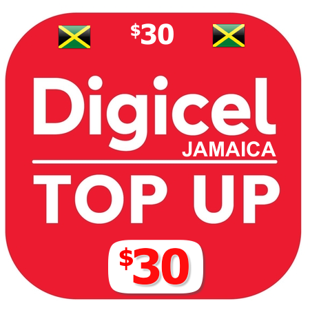 $30 Digicel Jamaica top up