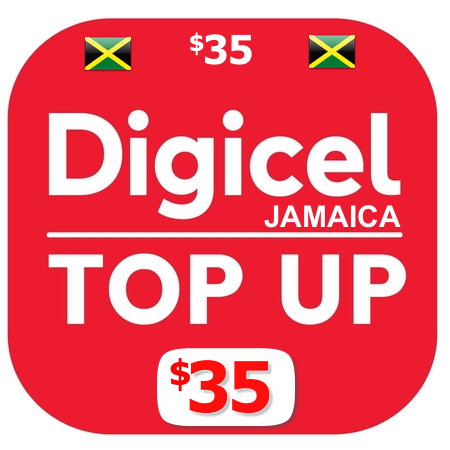 $35 Digicel Jamaica top up