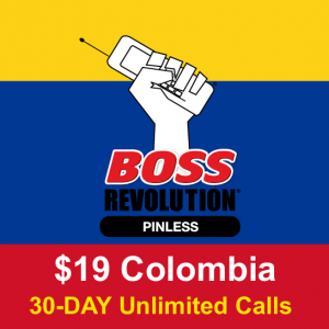 Colombia Unlimited long distance calling card