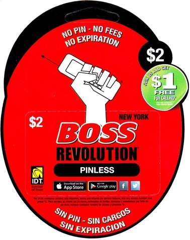 How to use BOSS Revolution phone card