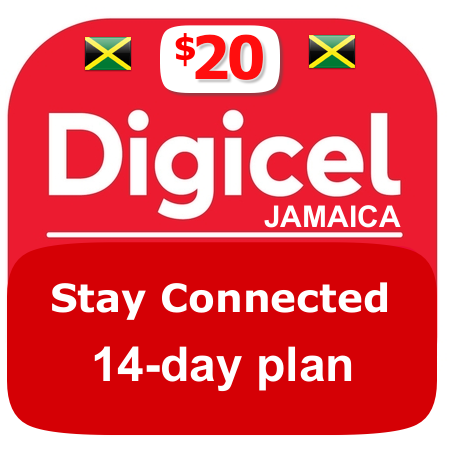$20 Digicel Jamaica stay connected plan