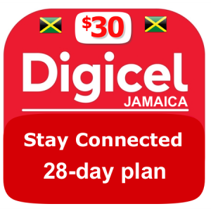 $30 Digicel Jamaica stay connected plan