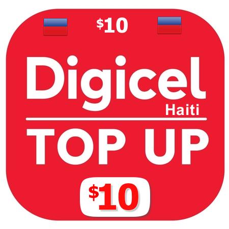 $10 Digicel Haiti top up