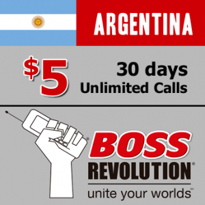 Unlimited calls to Argentina Boss Revolution