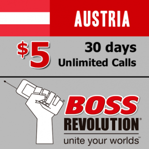 $5 unlimited calls to Austria Boss Revolution