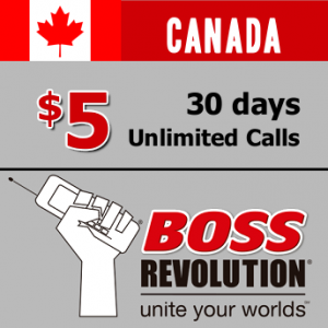 Unlimited calls to Canada Boss Revolution