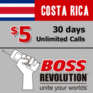Unlimited calls to Costa Rica Boss Revolution
