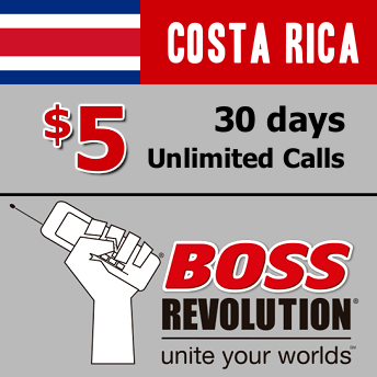 Unlimited calls to Costa Rica Boss Revolution