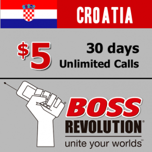 Unlimited calls to Croatia Boss Revolution