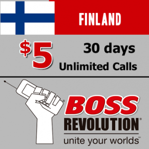 Unlimited calls to Finland Boss Revolution